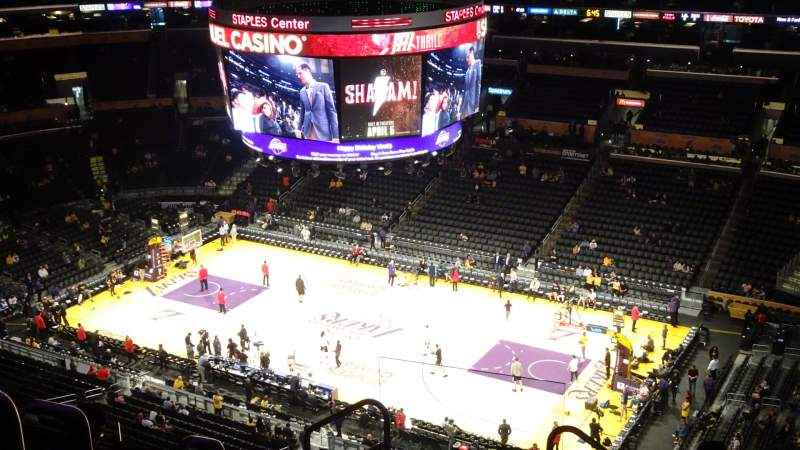 Seating view for Staples Center Section 332 Row 8 Seat 24