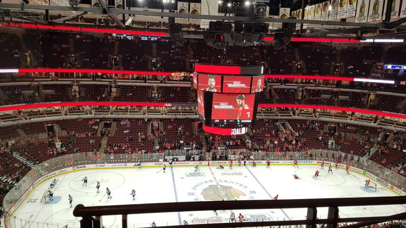Seating view for United Center Section 318 Row 9 Seat 23