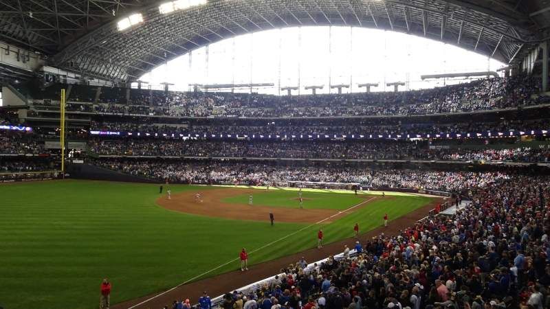 Seating view for American Family Field Section 231 Row 1 Seat 1