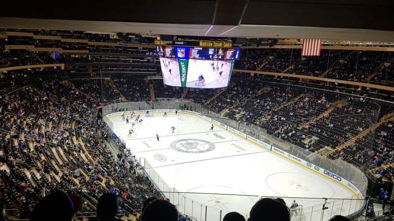 Seating view for Madison Square Garden  Section 414 Row 4 Seat 14