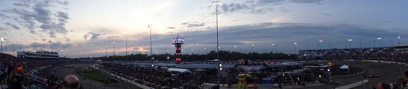 Seating view for Richmond Raceway Section VEC Row 7 Seat 26