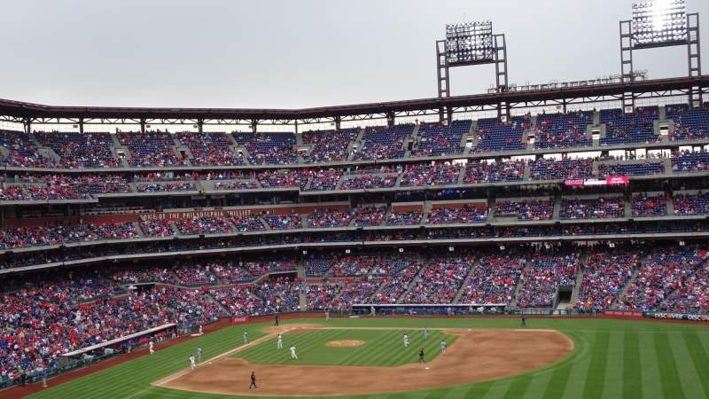 Seating view for Citizens Bank Park  Section 201 Row 11 Seat 23