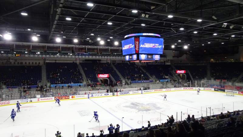 Seating view for Coca-Cola Coliseum Section 111 Row N Seat 24