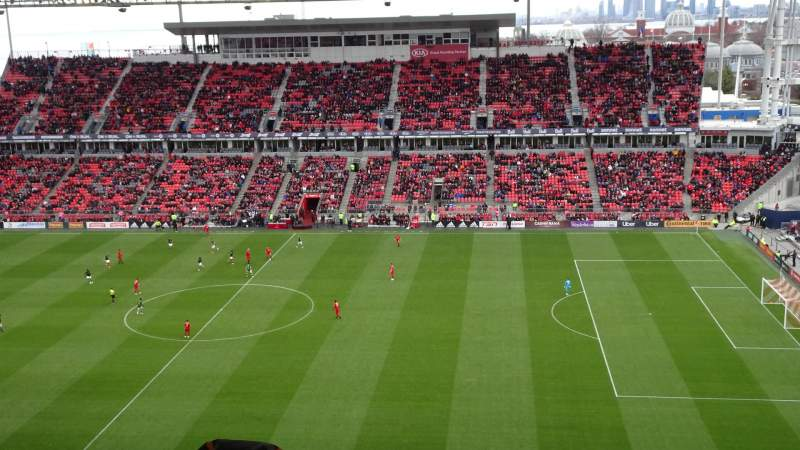 Seating view for BMO Field Section 206 Row 21 Seat 31