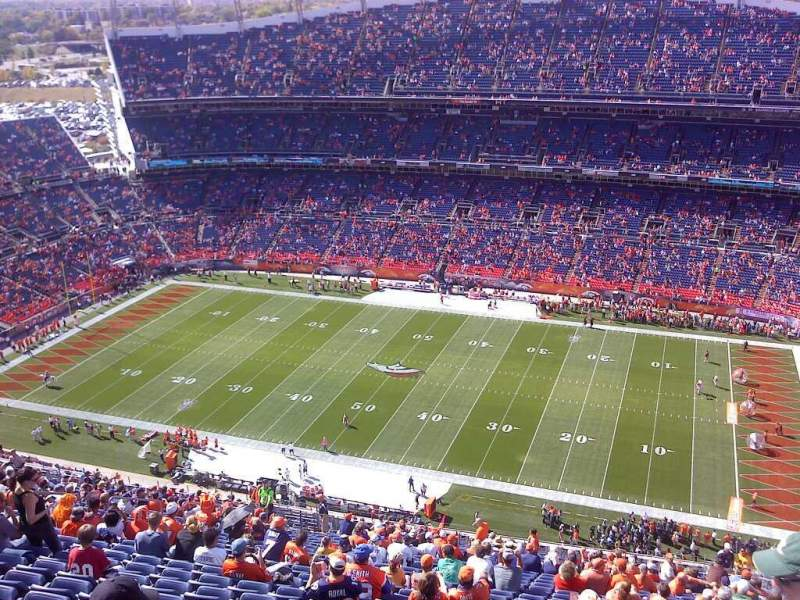 Seating view for Sports Authority Field at Mile High Section 531 Row 41 Seat 2