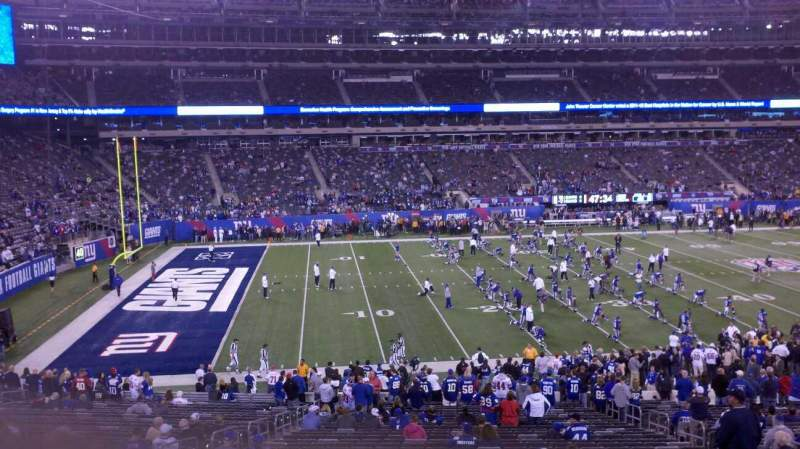 Seating view for MetLife Stadium Section 117 Row 25 Seat 8