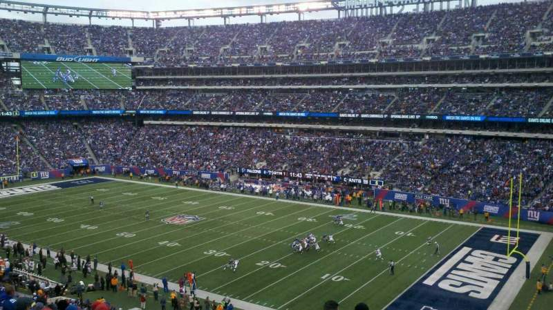 Seating view for MetLife Stadium Section 233 Row 10 Seat 17