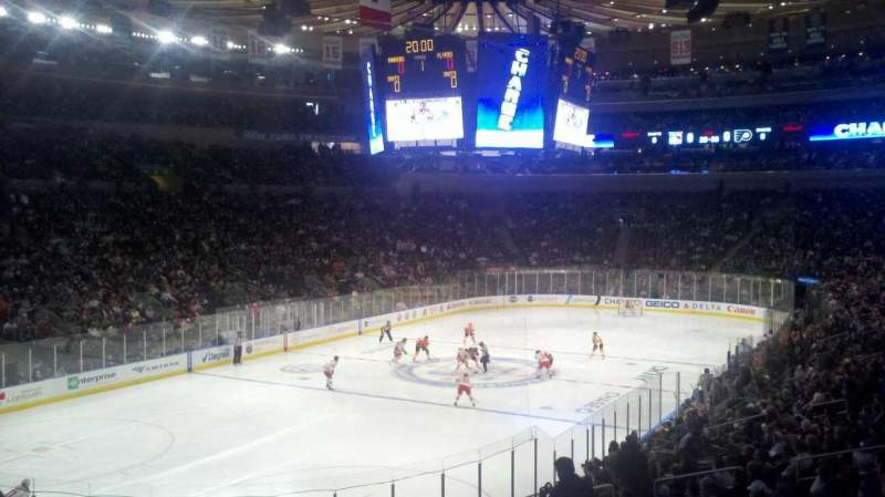 Seating view for Madison Square Garden Section 104 Row 21 Seat 1