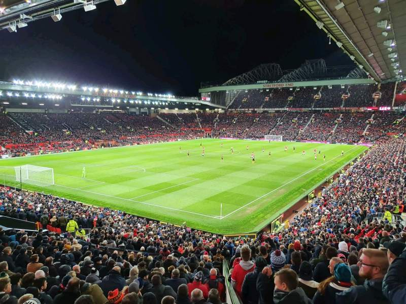 Seating view for Old Trafford Section E239 Row 22 Seat 6