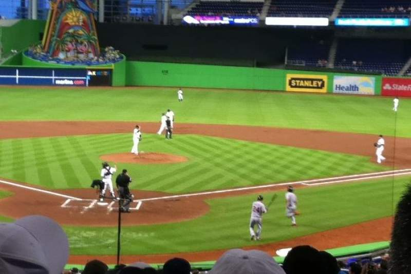 Seating view for Marlins Park Section 13 Row 13 Seat 26