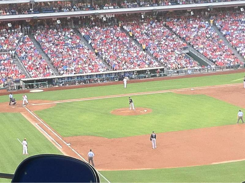 Seating view for Citizens Bank Park Section 206 Row 4 Seat 20