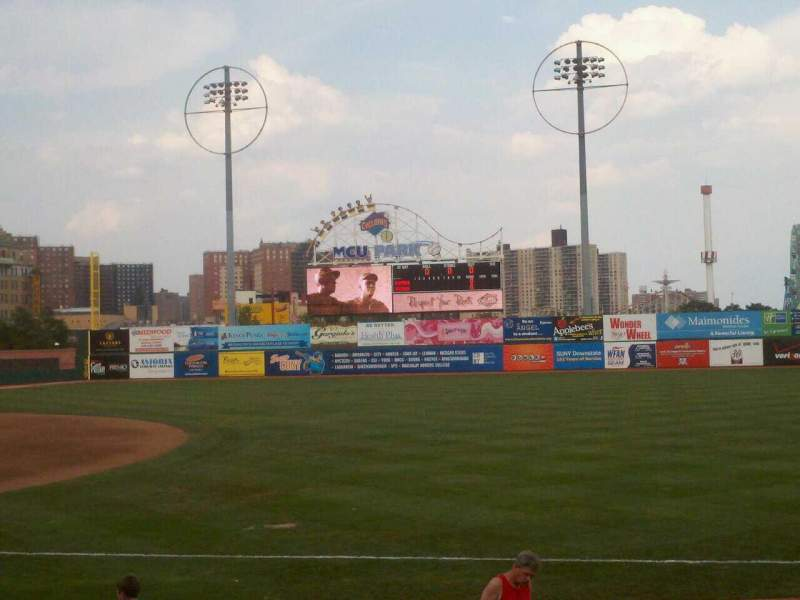 Seating view for MCU Park Section 20 Row M Seat 4