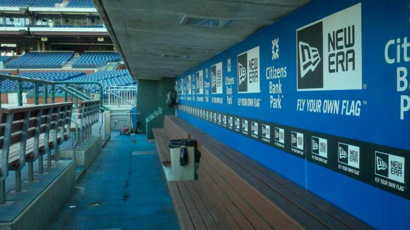 Seating view for Citizens Bank Park Section dugout