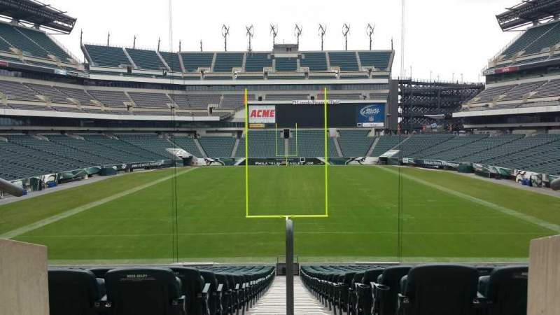 Seating view for Lincoln Financial Field Section 100 level