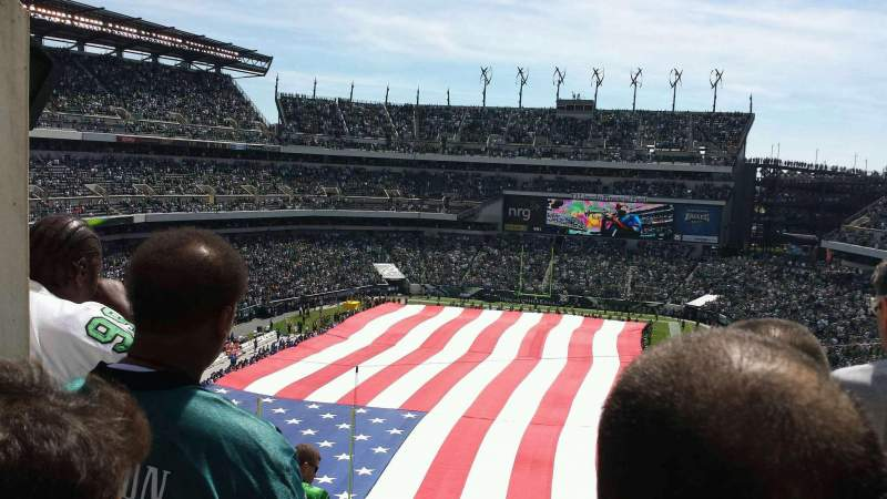 Seating view for Lincoln Financial Field Section 237 Row 14 Seat 13
