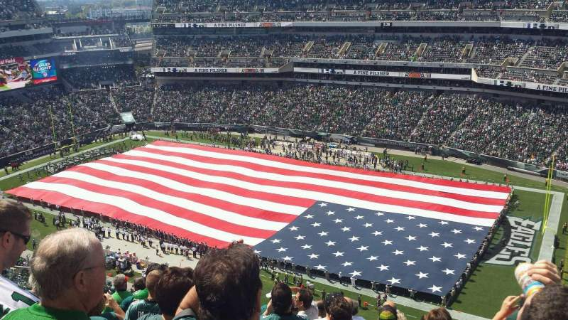 Seating view for Lincoln Financial Field Section 229 Row 15 Seat 13