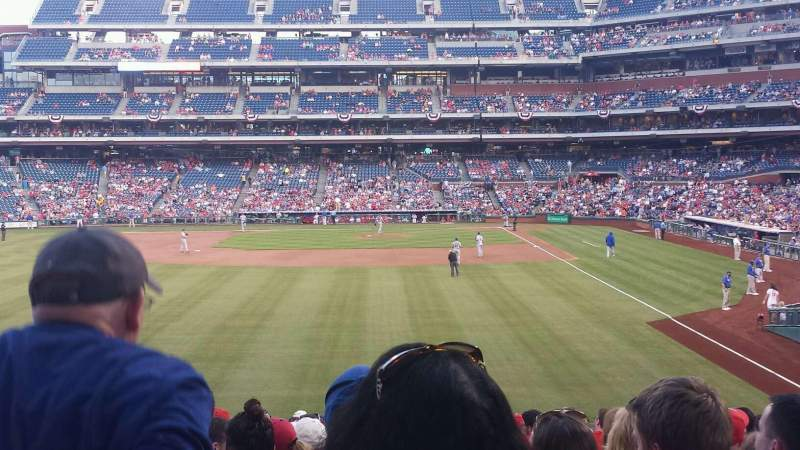Seating view for Citizens Bank Park Section 142 Row 19 Seat 8