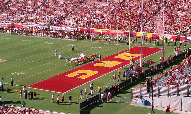 Seating view for Los Angeles Memorial Coliseum Section 202 Row 25 Seat 1