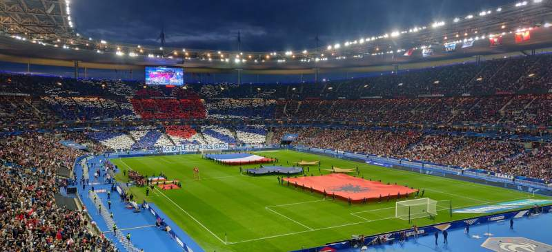 Seating view for Stade de France Section Y1 Row 46 Seat 3