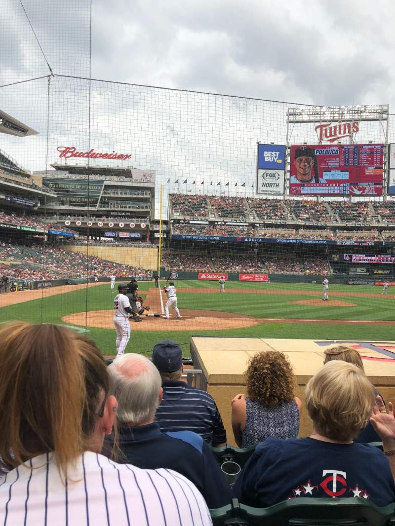 Seating view for Target Field Section 6 Row 8 Seat 15