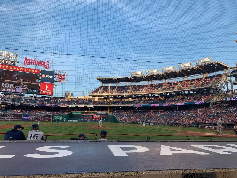 Seating view for Nationals Park Section 119 Row E Seat 18