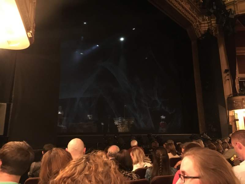 Seating view for Hippodrome Theatre Section Left Orchestra Row H Seat 13 and 15