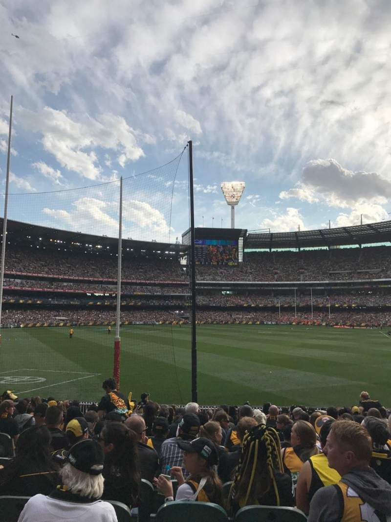 Seating view for Melbourne Cricket Ground Section M1 Row Q Seat 14