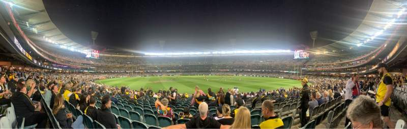 Seating view for Melbourne Cricket Ground Section M15 Row V Seat 8
