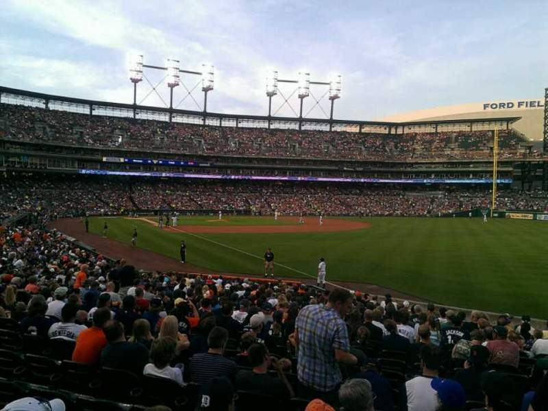 Seating view for Comerica Park Section 113 Row 26 Seat 7