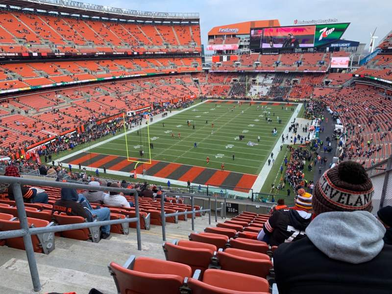Seating view for FirstEnergy Stadium Section 350 Row 24 Seat 3