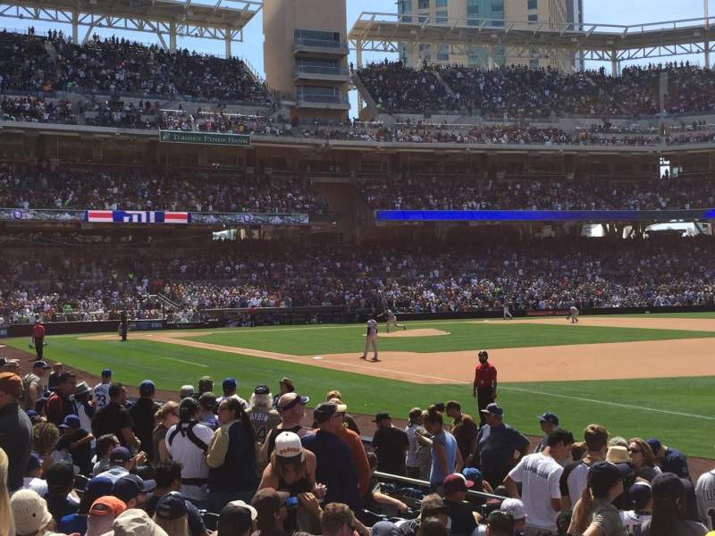 Seating view for PETCO Park Section 117 Row 13 Seat 3