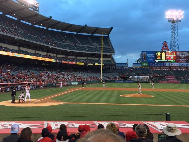 Seating view for Angel Stadium Section F123 Row L Seat 7