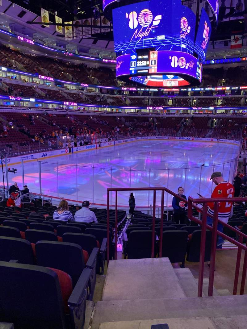 Seating view for United Center Section 116 Row 17 Seat 2