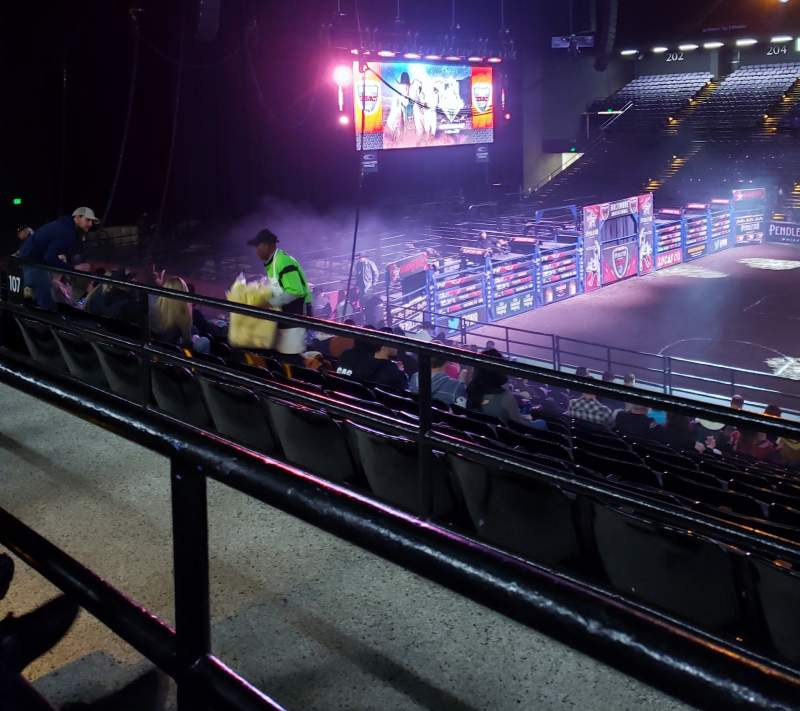 Seating view for Royal Farms Arena Section 209 Row A Seat 13
