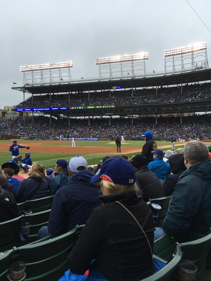 Seating view for Wrigley Field Section 7 Row 7 Seat 7