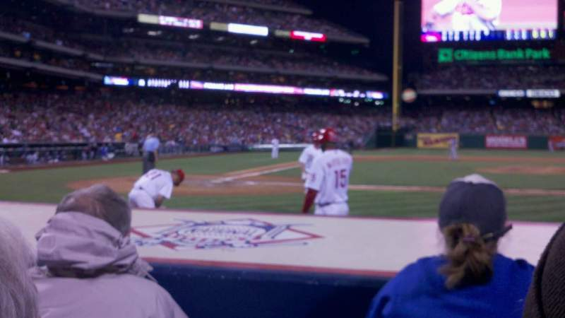Seating view for Citizens Bank Park Section 118 Row 3 Seat 3