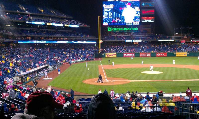 Seating view for Citizens Bank Park Section 120 Row 30 Seat 5