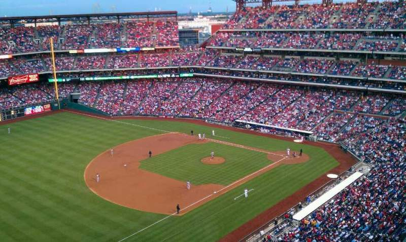 Seating view for Citizens Bank Park Section 431 Row 12 Seat 18