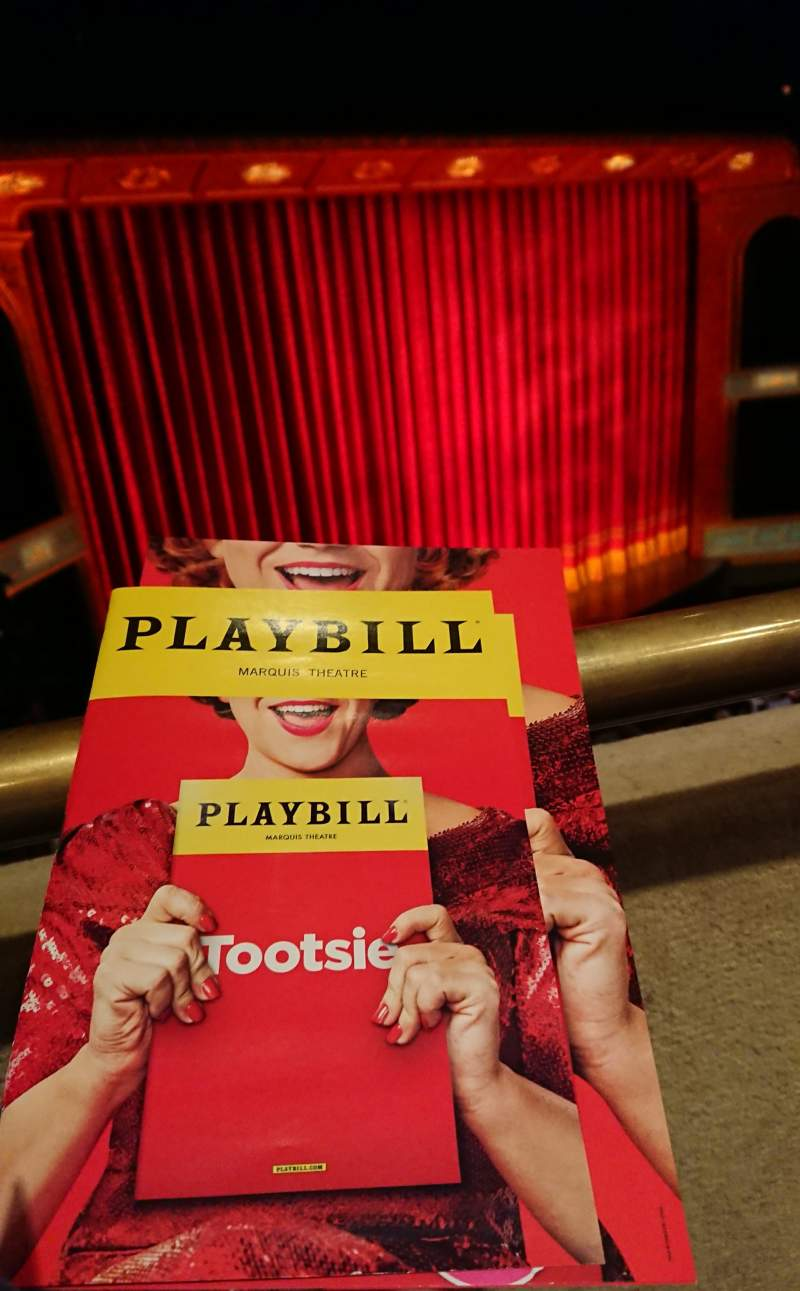 Seating view for Marquis Theatre Section Mezzanine L Row A Seat 17