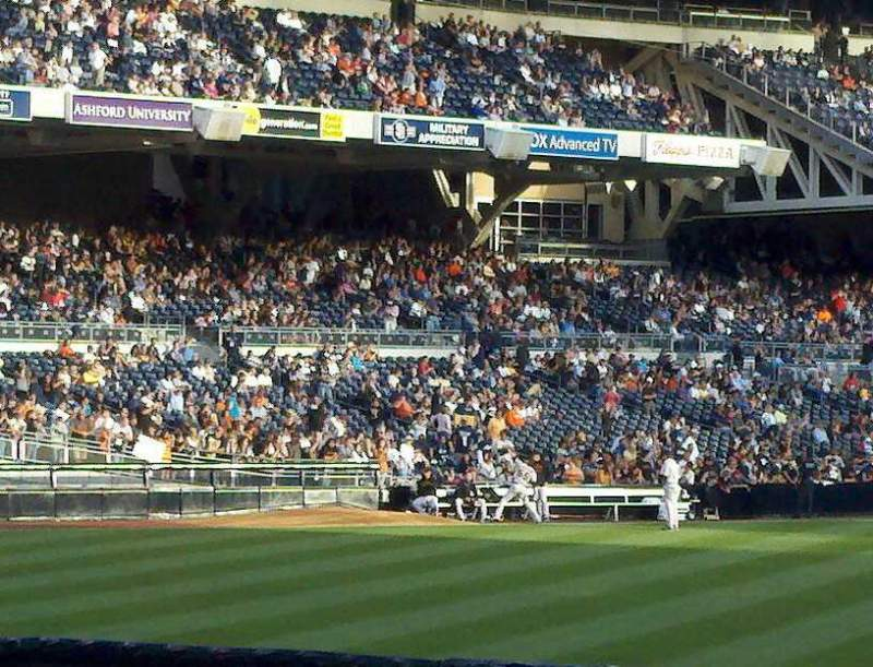 Seating view for PETCO Park Section bleachers