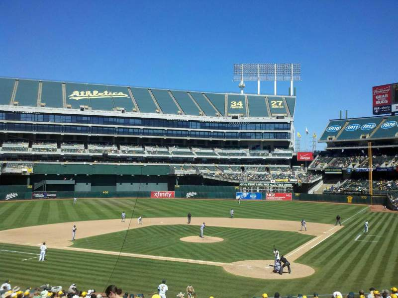 Seating view for Oakland Alameda Coliseum Section 119R Row 25 Seat 6