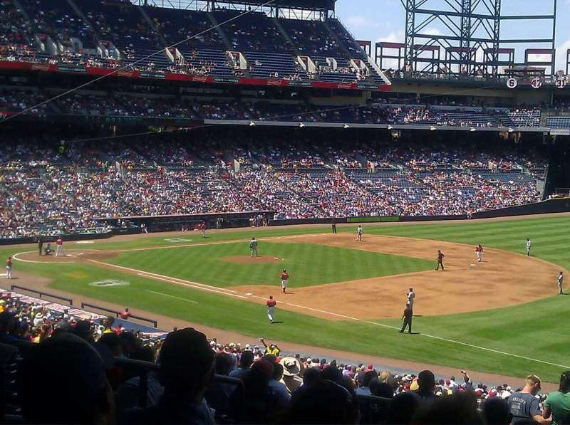 Seating view for Turner Field Section 321