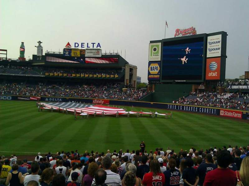 Seating view for Turner Field Section 223 Row last row Seat end seat