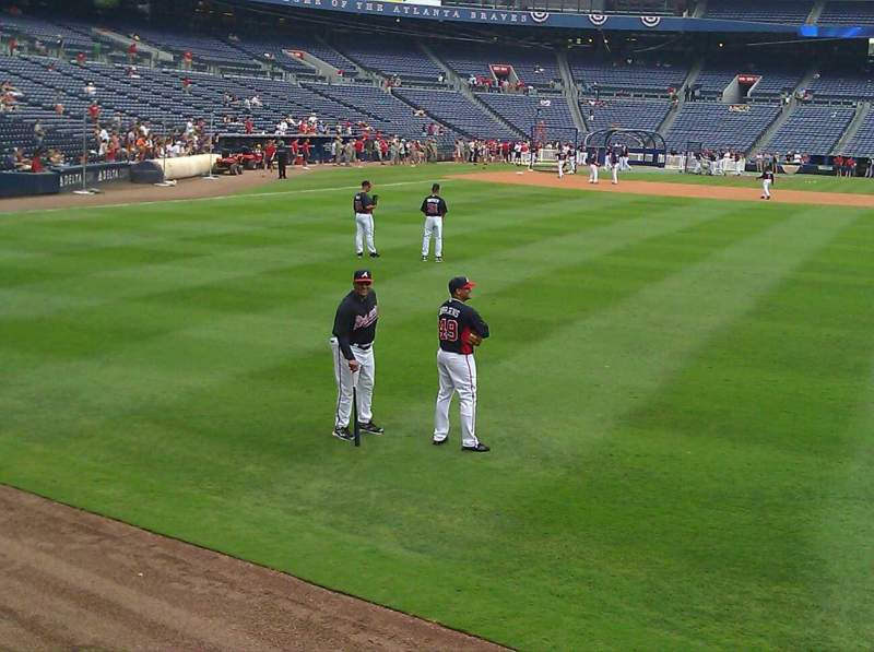 Seating view for Turner Field Section 137 Row 1st
