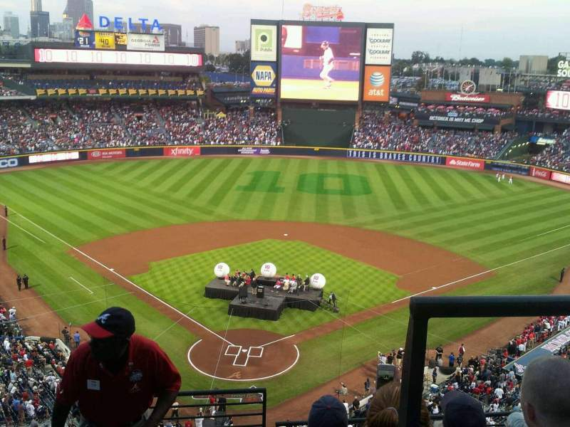 Seating view for Turner Field Section 401