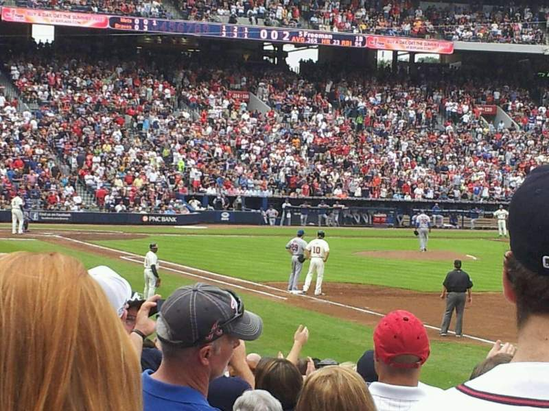 Seating view for Turner Field Section 233L Row 14 Seat 101