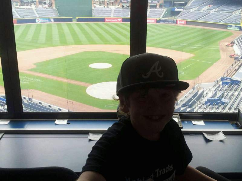 Seating view for Turner Field Section Press Room