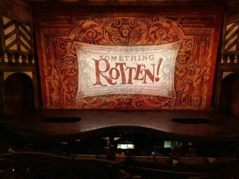 Seating view for St. James Theatre Section Mezzanine  Row A Seat 108
