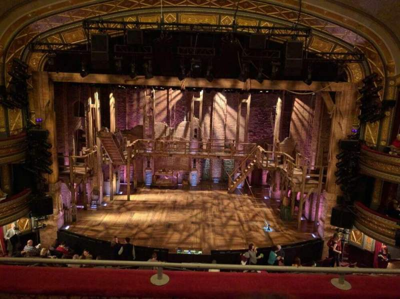 Seating view for Richard Rodgers Theatre Section Mezzanine  Row C Seat 107