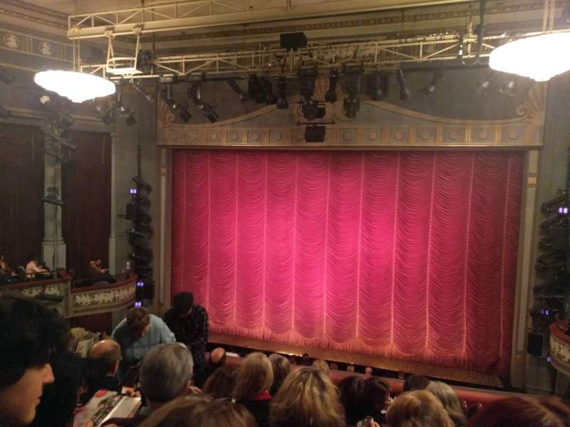 Seating view for Broadhurst Theatre Section Center Mezzanine Row F Seat 114